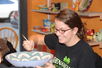All Fired up _ Painting bowl - smile_